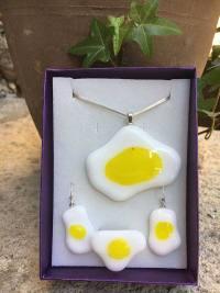 Vidrio fusión Huevo